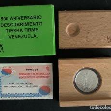 Monedas FNMT: CMC 3 EUROS 1998 500 ANIVERSARIO DESCUBRIMIENTO TIERRA FIRME VENEZUELA (PLATA). Lote 293953078