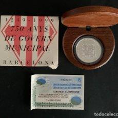 Monedas FNMT: CMC 2000 PESETAS 1999 750 ANYS DE GOVERN MUNICIPAL BARCELONA (PLATA) PROOF. Lote 293956278