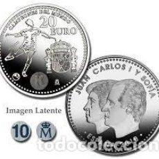 Monedas FNMT: ESPAÑA 20 EUROS CONMEMORATIVA 2010-CAMPEONES DEL MUNDO-*FUTBOL*.PLATA 925-CAPSULA. Lote 294824898