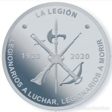 Monedas FNMT: CENTENARIO DE LA LEGION ESPAÑOLA MEDALLA OFICIAL FNMT SIMILAR A 10 EUROS 2020. Lote 294963278