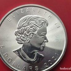 Monedas FNMT: MONEDA DE PLATA MAPLE LEAF 2021 1 OZ .31G PROOF. Lote 295043993