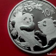 Monedas FNMT: 1 ONZA 2021@ CHINA 10 YUAN 2021 OSO PANDA CON SU CRIA Y PAGODA MONEDA DE PLATA PROOF 31G. Lote 295044533