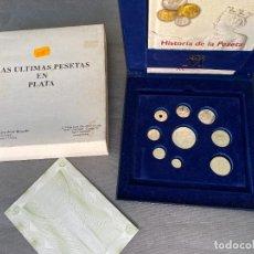 Monedas FNMT: LAS ULTIMAS PESETAS EN PLATA , ESTUCHE FNMT .. Lote 295132933