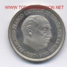 Monedas Franco: 25 PESETAS- 1957*73. Lote 885313