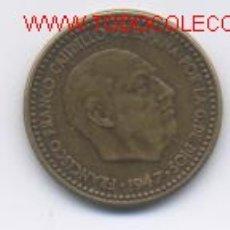 Monedas Franco: FRANCO- 1 PESETA-1947*19-49. Lote 921307