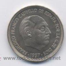 Monedas Franco: 50 PESETAS- 1957*67-SC. Lote 3158996
