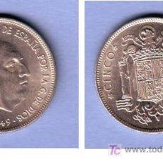 Monedas Franco: FRANCO 5 PESETAS NIQUEL 1949 ESTRELLA 50 MUY BONITA.. Lote 19686605