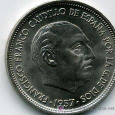 Monedas Franco: 50 PESETAS 1957*59 NUEVA - ESTADO ESPAÑOL SIN CIRCULAR CANTO UNA GRANDE Y LIBRE. Lote 27323914