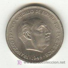Moedas Franco: 1- 5 PTAS. 1949 ESTRELLAS 1951 SEGUNDA ESTRELLA RECTIFICADA IDEAL PARA TAPAR EL AGUJERO QUE FALTA . Lote 24060111