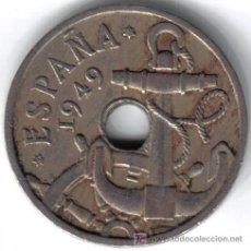 Moedas Franco: ESPAÑA 50 CENTIMOS 1949 * 19-51. Lote 24513200