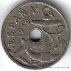 Moedas Franco: ESPAÑA 50 CENTIMOS 1949 * 19-53. Lote 6284610