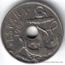 Moedas Franco: ESPAÑA 50 CENTIMOS 1963 * 19-64. Lote 16856282