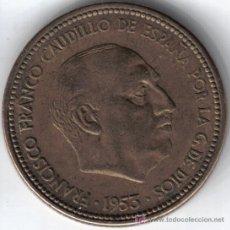 Moedas Franco: ESPAÑA 2,5 PESETAS 1953 * 19-54. Lote 24513203