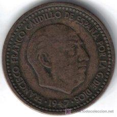 Monedas Franco: ESPAÑA 1 PESETA 1947 * 19-48. Lote 27638189