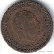 Monedas Franco: ESPAÑA 1 PESETA 1953 * 19-61. Lote 27638192