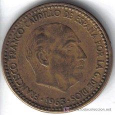 Monedas Franco: ESPAÑA 1 PESETA 1963 * 19-64. Lote 25728268