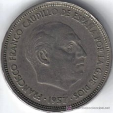 Monedas Franco: ESPAÑA 25 PESETAS 1957 * 64. Lote 6291427