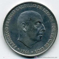 Monedas Franco: MONEDA DE 100 PTAS. PLATA 1966*67 - SIN CIRCULAR - RARA DE ENCONTRAR. Lote 26762944