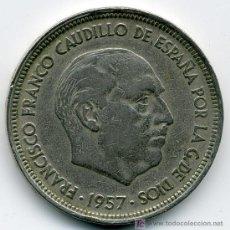 Monedas Franco: MONEDA DE 50 PTAS. 1957 * 59 - ESTADO ESPAÑOL . Lote 26762940
