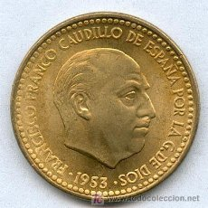 Monedas Franco: SIN CIRCULAR 1 PESETA AÑO 1953. Lote 19606164