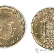 Monedas Franco: ESTADO ESPAÑOL - 5 PTA. 1949 (*19-50) MADRID. Lote 8709344