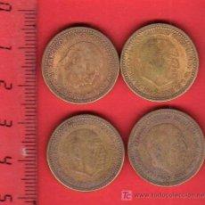Monedas Franco: LOTE 4 MONEDAS 1 PESETA 1947 *53 - CIRCULADAS. Lote 21422234
