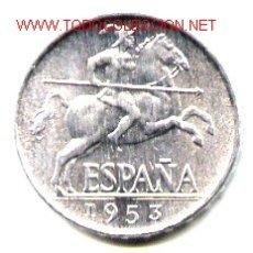 Monedas Franco: MONEDA DE 5 CENTIMOS 1953 SIN CIRCULAR . Lote 29331715