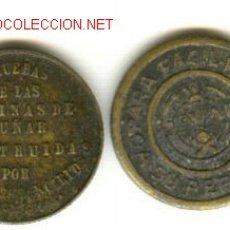 Monedas Franco: CADIZ TALLERES SAN CARLOS DOS MONEDAS DISTINTAS. Lote 26164761