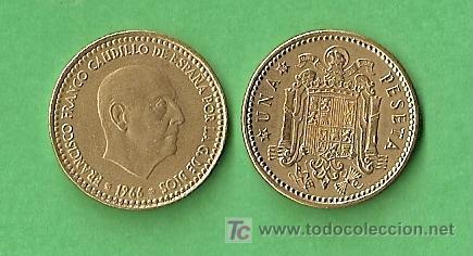 1966 *69 MONEDA DE 1 PESETA (Numismática - España Modernas y Contemporáneas - Estado Español)