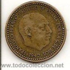 Monedas Franco: MONEDA 1PTS. 1947 *49 - MADRID - FRANCO - DIFICIL DE CONSEGUIR EN ESTA CONSERVACIÓN.MBC++.. Lote 20684701
