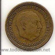 Monedas Franco: MONEDA DE 1PTS. 1947 *50 - MADRID FRANCO. EBC- MUY RARA MONEDA DE COLECCION.*50 TOTALMENTE PERFECTA. Lote 27456480