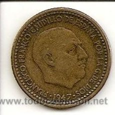 Monedas Franco: MONEDA 1PTS. 1947 *51 - MADRID - FRANCO. EBC- MUY RARA, MONEDA DE COLECCIÓN*51 TOTALMENTE PERFECTA. Lote 27414654