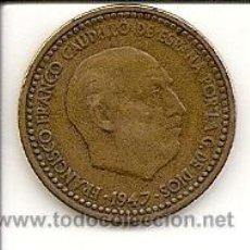 Monedas Franco: MONEDA DE 1PTS. 1947 *52 -MADRID - FRANCO - MUY BUEN PRECIO Y CONSERVACIÓN .MBC+.. Lote 20699642