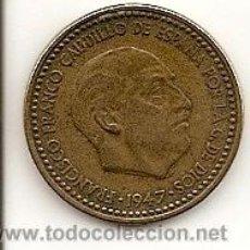 Monedas Franco: MONEDA 1PTS. 1947 *53 - MADRID - FRANCO - MUY BUEN PRECIO Y CONSERVACIÓN. EBC-. Lote 20662140