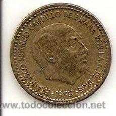 Monedas Franco: MONEDA DE 1PTS.- 1953 *56 .MADRID -FRANCO-EXCELENTE CONSERVACIÓN Y PRECIO. EBC-. Lote 20859976