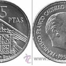 Monedas Franco: 5 PTS. FRANCO 1957 ESTRELLA 63 S/C .....EL MAS RARO. Lote 15410070