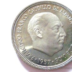 Monedas Franco: 5 PESETAS FRANCISCO FRANCO 1957 *73 PROOF.. Lote 11551507