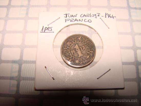 1 PESETA 1944 - ESTADO ESPAÑOL -. (Numismática - España Modernas y Contemporáneas - Estado Español)