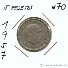 Monedas Franco: 5 PESETAS DE FRANCISCO FRANCO AÑO 1957*70. AHORRA EN GASTOS AGRUPANDO TODAS TUS COMPRAS. Lote 26444386