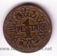 MONEDA 1 PESETA 1944 (Numismática - España Modernas y Contemporáneas - Estado Español)
