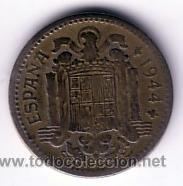 Monedas Franco: moneda 1 peseta 1944 - Foto 2 - 14102917