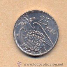 Monedas Franco: N5 - F FRANCO 25 PESETAS 1957/ 69 - F FRANCO 25 PESETAS 1957 / 69 EBC 1969 F FRANCO. Lote 23495185