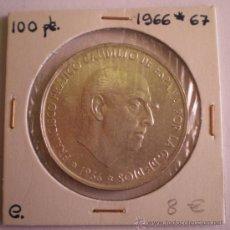 Monedas Franco: 100 PESETAS 1966*67. Lote 20965492