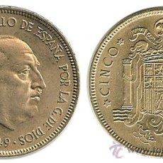 Monedas Franco: ESTADO ESPAÑOL - 5 PESETAS 1949 (*19-50). Lote 13587631