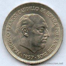 Monedas Franco: EXQUISITA MONEDA DE 50 PTAS 1957*71 CON BRILLO ORIGINAL. Lote 26624551