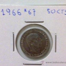 Monedas Franco: 50 CENTIMOS 1966 *67. Lote 15903577