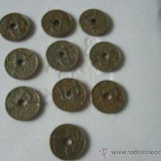 Monedas Franco: 10 MONEDAS DE 50 CENTIMOS AÑO 1949. Lote 24860905