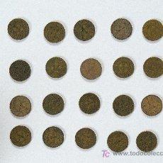 Monedas Franco: LOTE DE 20 MONEDAS DE PESETA 1944-LA DEL 1. Lote 26175127