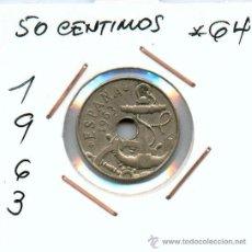 Monedas Franco: MONEDA DE 50 CENTIMOS AÑO 1963*64 DEL ESTADO ESPAÑOL, MONEDA EMITIDA POR FRANCISCO FRANCO. Lote 17569725