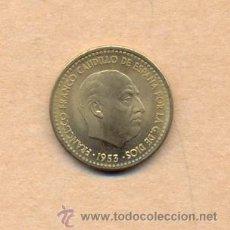 Monedas Franco: 284 MONEDA 284 - DE CARTUCHO F.D.C. 1 PESETA 1953 / 56 F FRANCO - 1 PTA 1953/56 F.D.C.. Lote 111604499